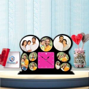 Wooden Family Table Clock