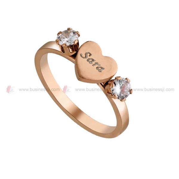 Heart Diamond Ladies Ring