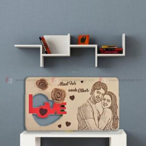 Wooden Engraved Love Plaque
