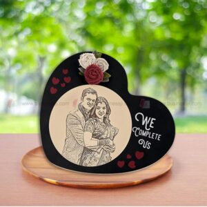 Wooden Engraved Photo Frame