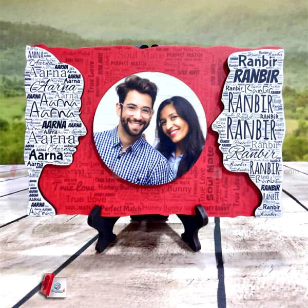 Couple Cutout Mosaic Frame