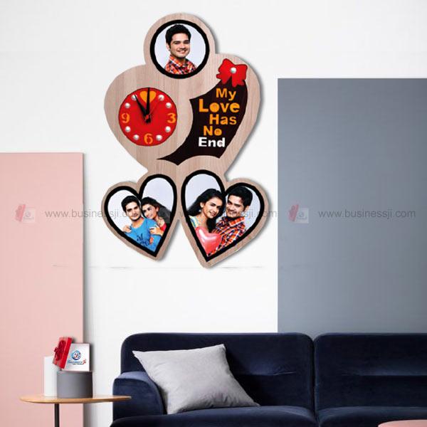 Couple Love Photo Clock