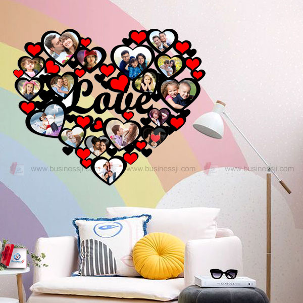 Love Heart Photo Collage