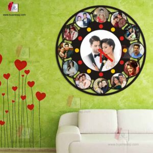 Personalized Round Photo Clock