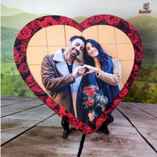 Heart Magnet Puzzle Frame