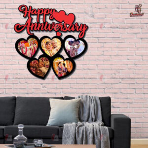Happy Anniversary Heart Frame