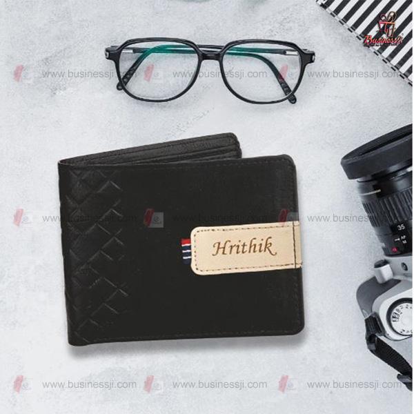 Men Wallet Black Leather