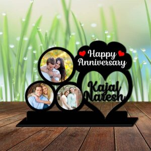 Wooden Anniversary Photo Stand