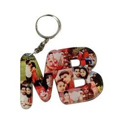 Couple Alphabet Key Chain
