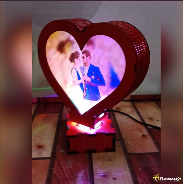 Heart Rotating Lamp
