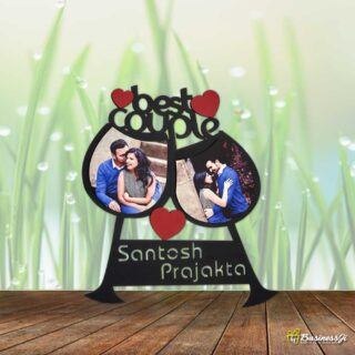 Personalized Couple Glass Plaque