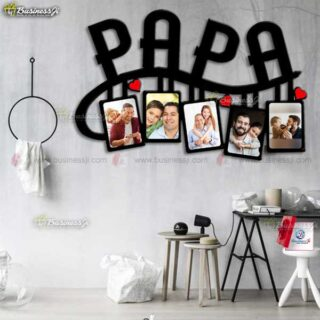 Personalized Wooden Papa Frame
