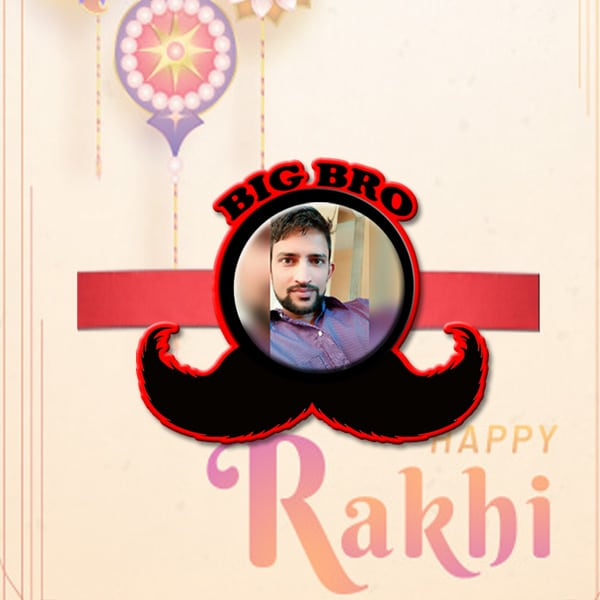 Customized Photo Rakhi BJR12
