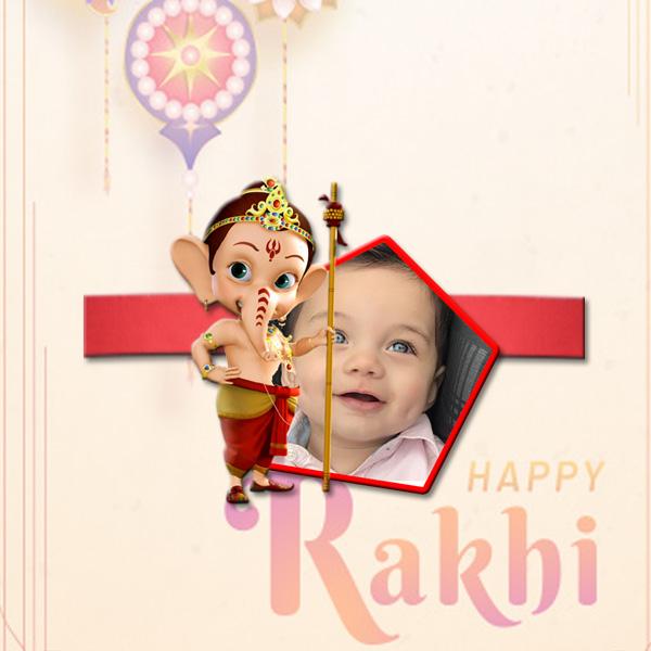 Ganesha Customized Rakhi BJR32