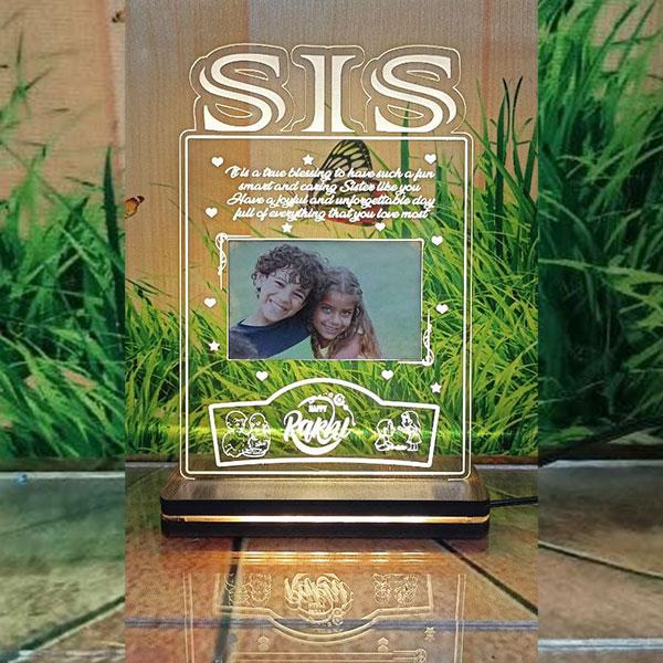 Single Light Sis Plaque